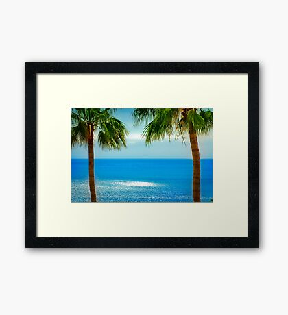 Looking towards La Gomera, from Los Gigantes Tenerife Framed Print