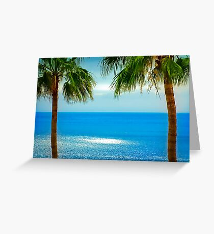 Looking towards La Gomera, from Los Gigantes Tenerife Greeting Card