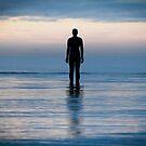 Alone on Crosby Beach by Ian Moran