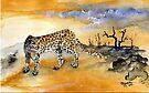 Panthera pardus by Elizabeth Kendall