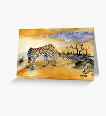 Panthera pardus Greeting Card
