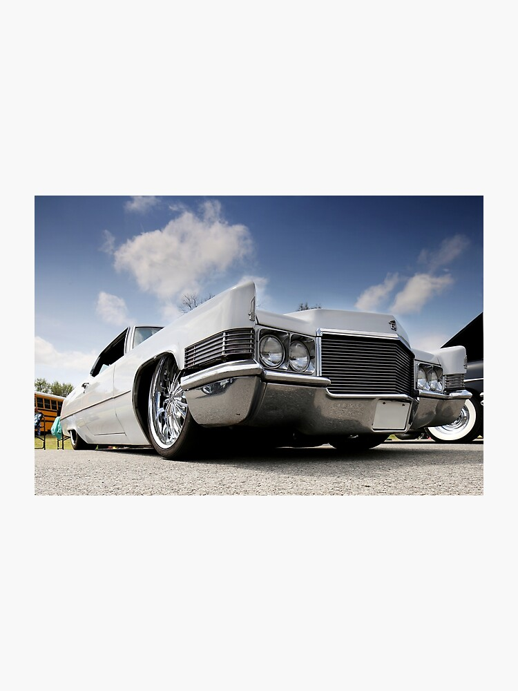 Bagged 1970 Cadillac Coupe Deville - 1 | Photographic Print