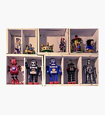 Toy Robots Photographic Print