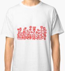 Cyber Garden - Red Classic T-Shirt