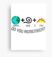 Earth, Wind & Fire Equation Metal Print