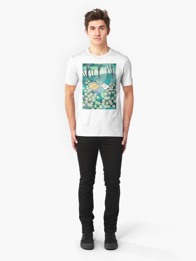Alternate view of Field of Flowers (Adventure Time) Slim Fit T-Shirt