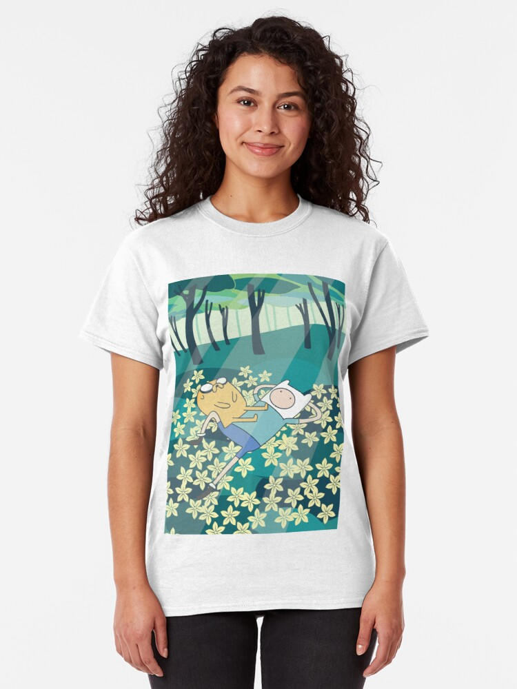 Alternate view of Field of Flowers (Adventure Time) Classic T-Shirt