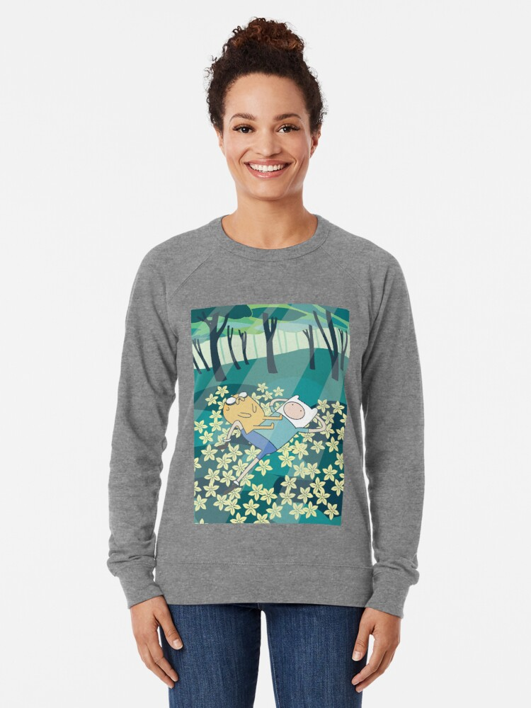 Alternate view of Field of Flowers (Adventure Time) Lightweight Sweatshirt