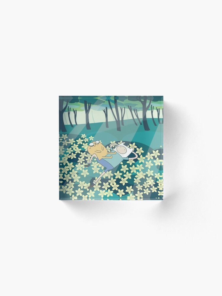 Alternate view of Field of Flowers (Adventure Time) Acrylic Block
