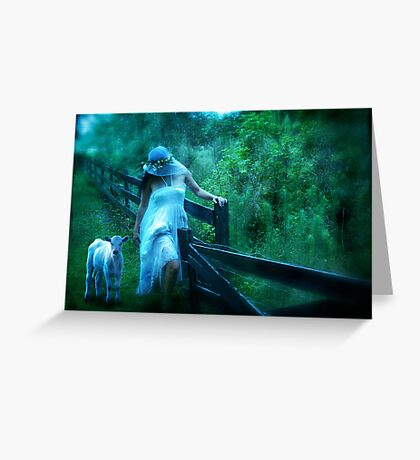 Shepherdess   Greeting Card