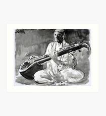 sitar Art Print