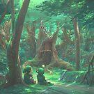 Kikori Forest by tomgardenart