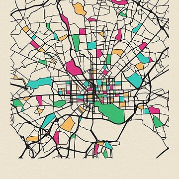 Mapa de calles de Baltimore, Maryland de geekmywall