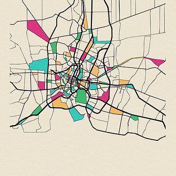 Mapa de calles de Bangkok, Tailandia de geekmywall