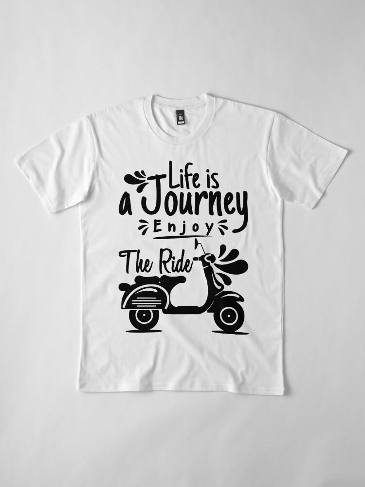 Vista alternativa de Camiseta premium Viaje de la vida