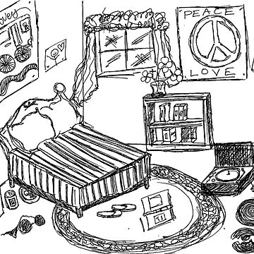 """A Teenage Room"" Drawing Day 2010 by Celonia"