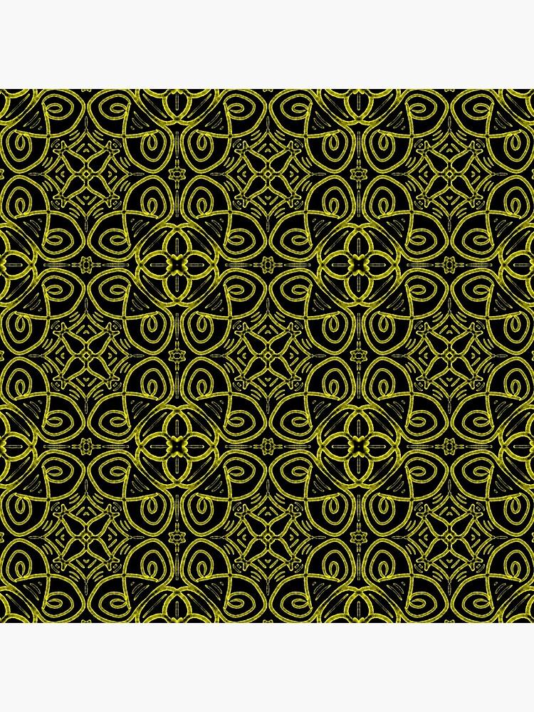 Leere Stühle und leere Tabellen - Gelb auf Schwarzem von Blenderbeetle