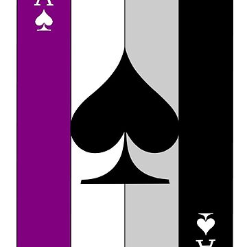 Ace of Spades (Asexual Flag) by SillySilhouette