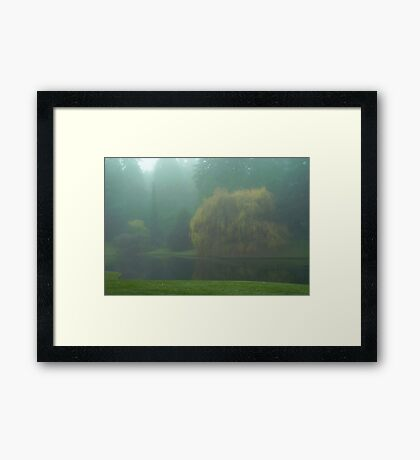 Puget Sound - Mists of Autumn Framed Print