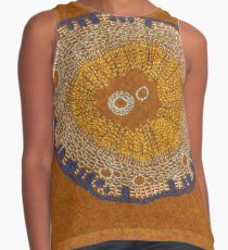 Growing - ginkgo - embroidery of plant cells Sleeveless Top