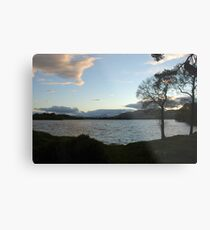 Evening Sky Over Lake of Menteith Metal Print