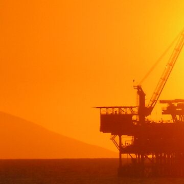 Oil Rig Sunset by LizzieMorrison