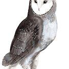 « Sumi-e Owl » par Threeleaves