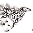 « Sumi-e Zebra » par Threeleaves