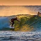 Early morning surfer  by John Quixley