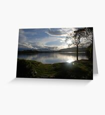 Sunset Over Lake of Menteith Greeting Card