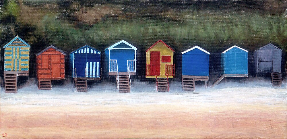 Beach Huts On Wells Beach by Ben Durrant