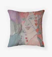 She Is All Heart Throw Pillow