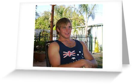 Justin- my grandson at Farewell BBQ by EdsMum