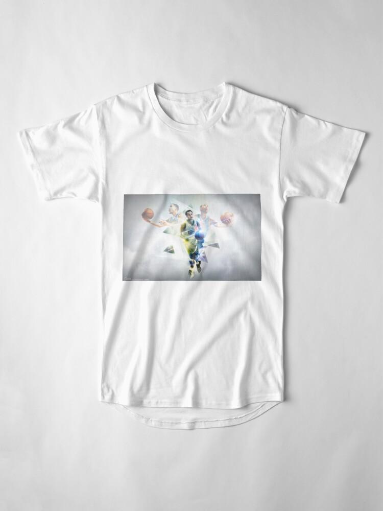 Alternate view of stepen curri basket Long T-Shirt