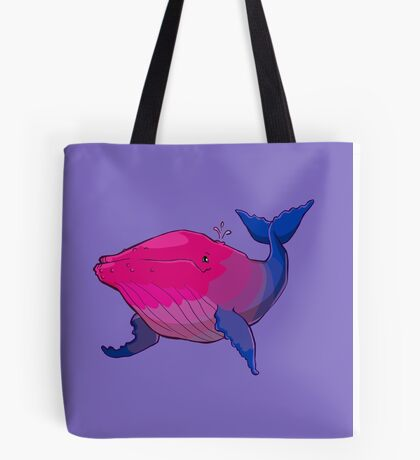 Bisexuwhale - no text Tote Bag