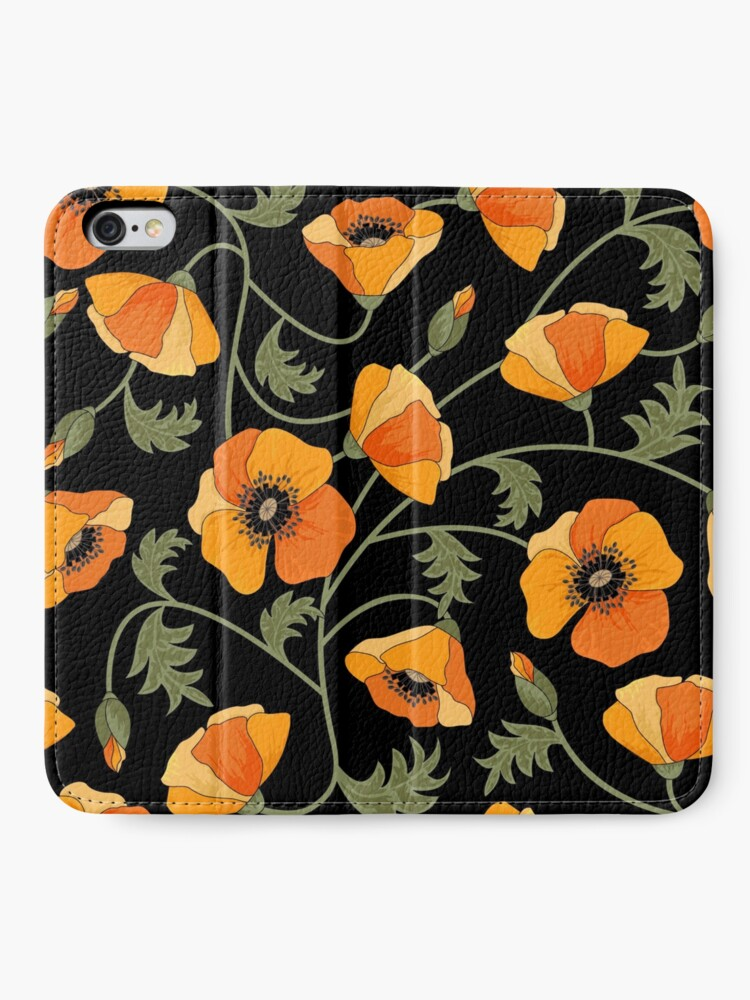 Alternate view of California Poppies iPhone Wallet