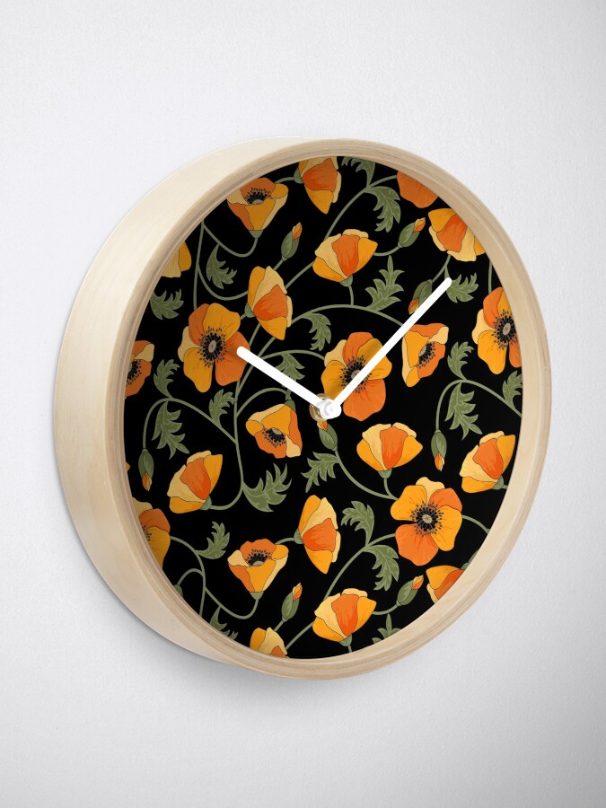 Alternate view of California Poppies Clock
