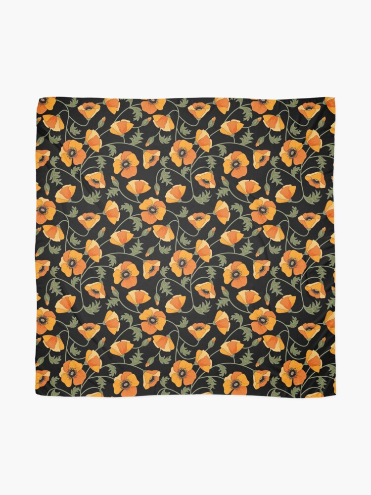 Alternate view of California Poppies Scarf
