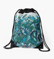 Blaugrün botanisch Rucksackbeutel