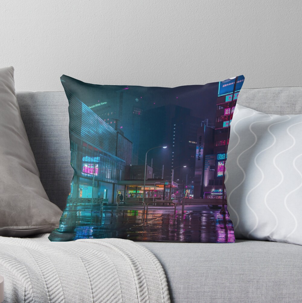 Only the rain Throw Pillow