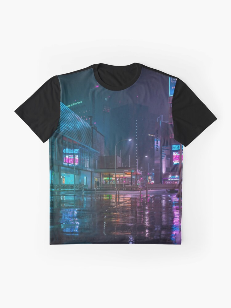 Alternate view of Only the rain Graphic T-Shirt