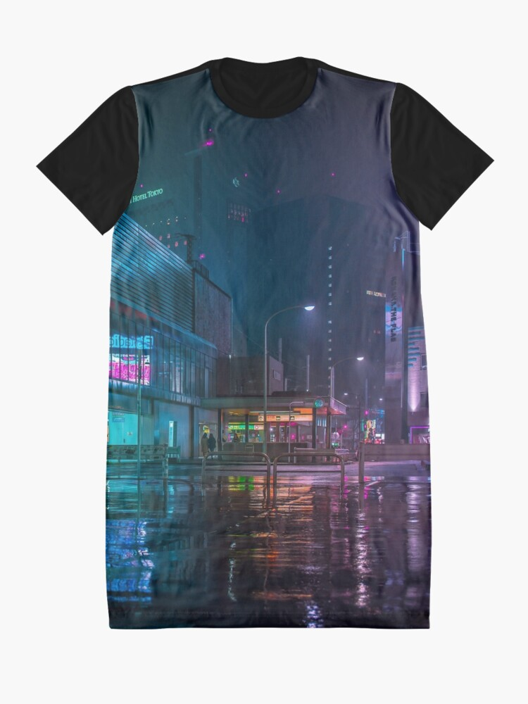 Alternate view of Only the rain Graphic T-Shirt Dress