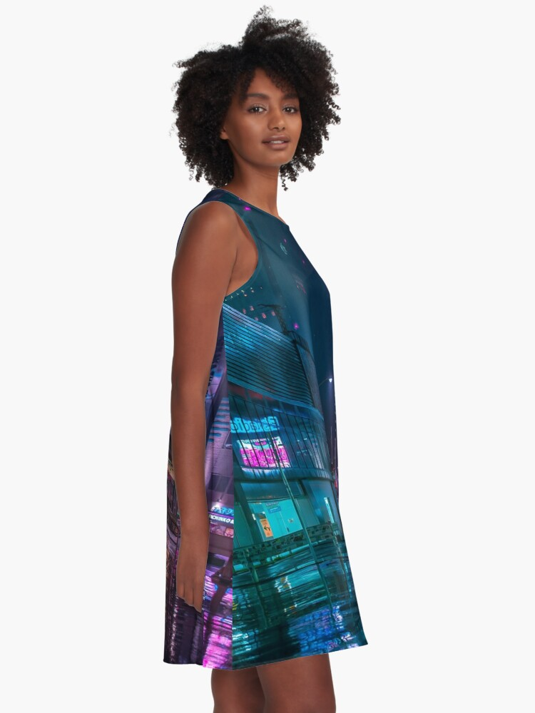 Alternate view of Only the rain A-Line Dress