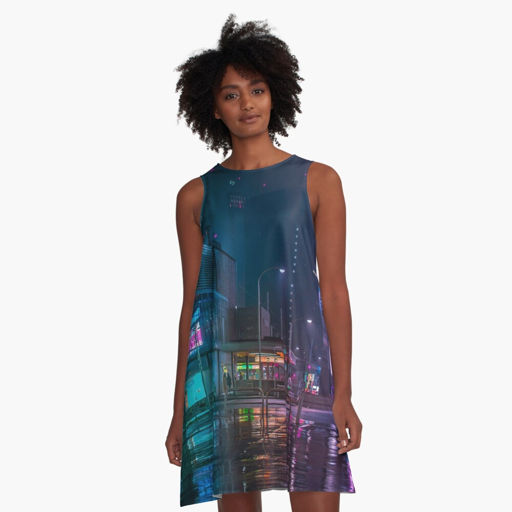 Only the rain A-Line Dress