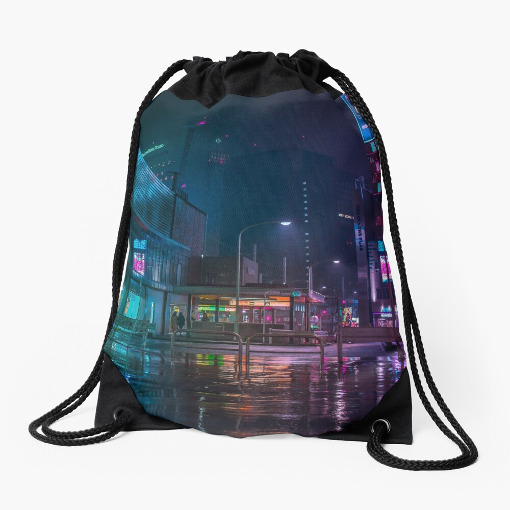 Only the rain Drawstring Bag