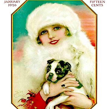VOGUE: Vintage 1926 Winter Magazine Werbedruck von posterbobs