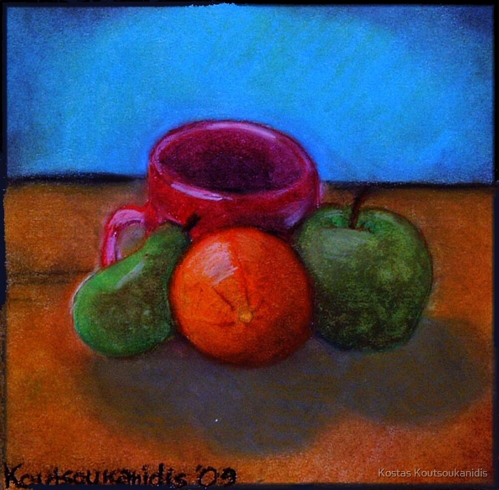 Fruits and Cup of Coffee by Kostas Koutsoukanidis