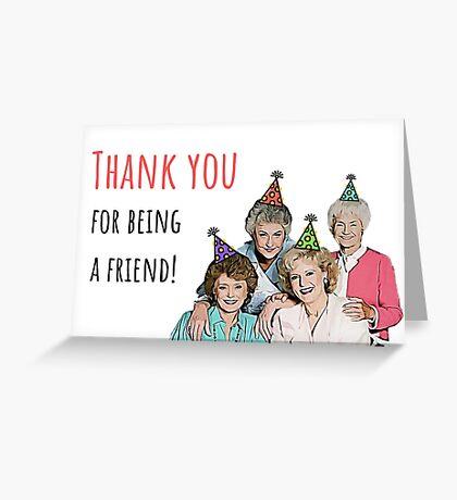 Golden Girls, Hermanas, Gracias por ser amigas, Cumpleaños, Día de la Madre, Aniversario, Amistad, Lindo, Regalo, Presente, Ideas Tarjeta de felicitación
