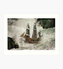HMS Bounty . Art Print
