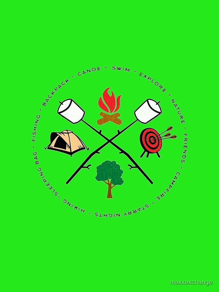 Camping Shirt, Tent, Campfire, Hunting, Nature. by maxxexchange